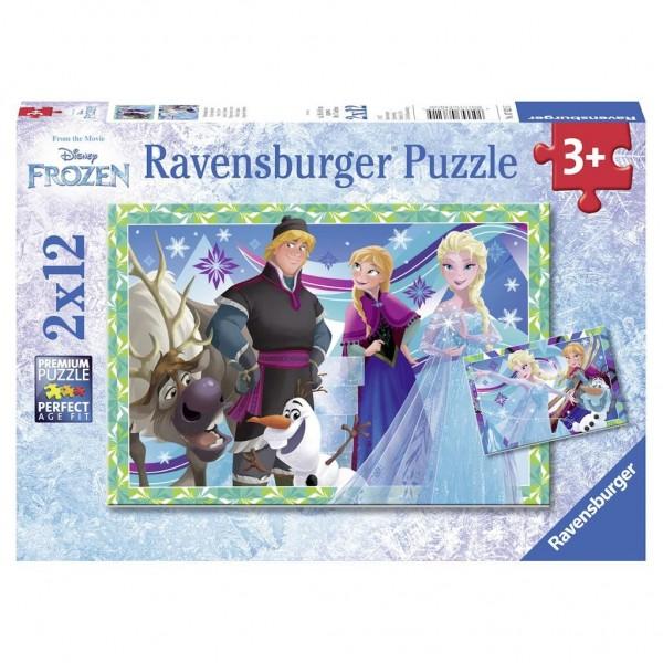 Ravensburger Puzzel Disney Frozen Winterspelen (2x12)