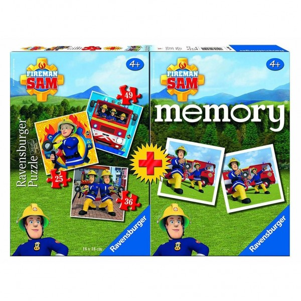 Ravensburger Spel Memory En Puzzel Brandweerman Sam