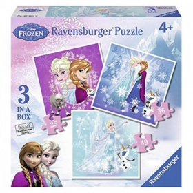 Ravensburger Frozen Puzzel Fever 3 In 1 (25+36+49)