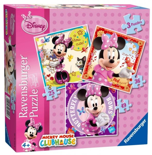 Puzzel Minnie 3in1 (25+36+49) Disney