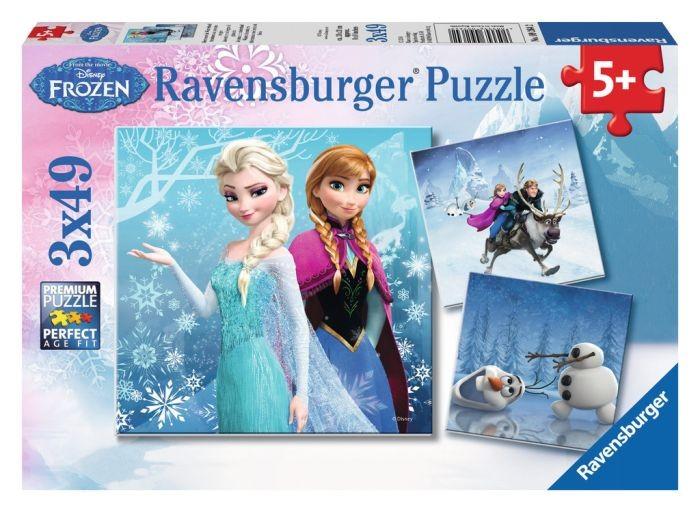 Ravensburger puzzel frozen (3×49)