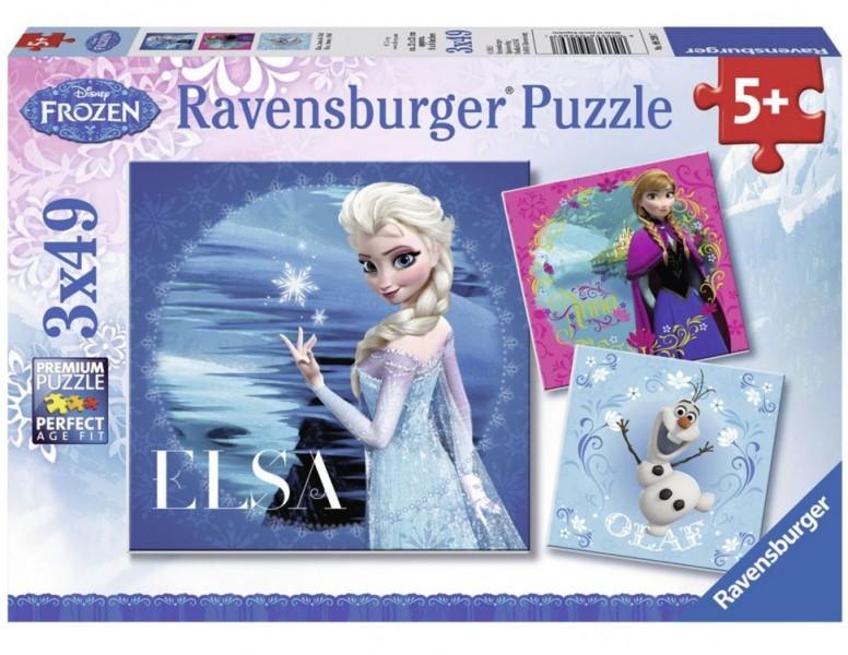 3x49 Stuks Puzzel Disney Frozen