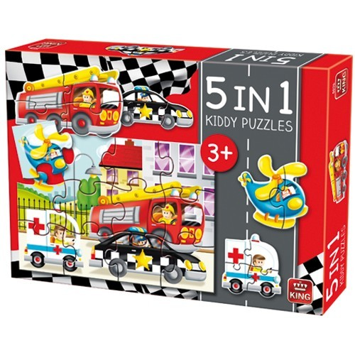 Puzzel 5in1 Auto's