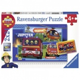 Ravensburger puzzel Brandweerman Sam waterloop met Sam (2x24)