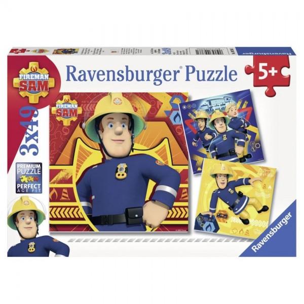 Ravensburger Puzzel Brandweerman Sam, bij Gevaar Sam roepen (3x49)