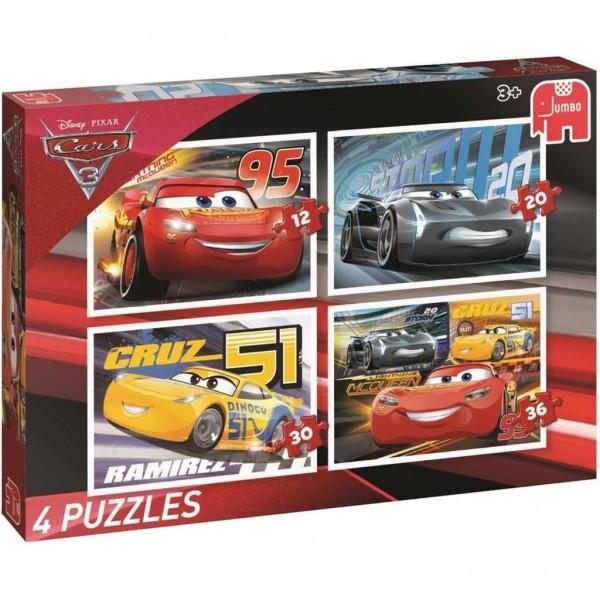Jumbo puzzel Cars 3 4 In 1 (12+20+30+36)