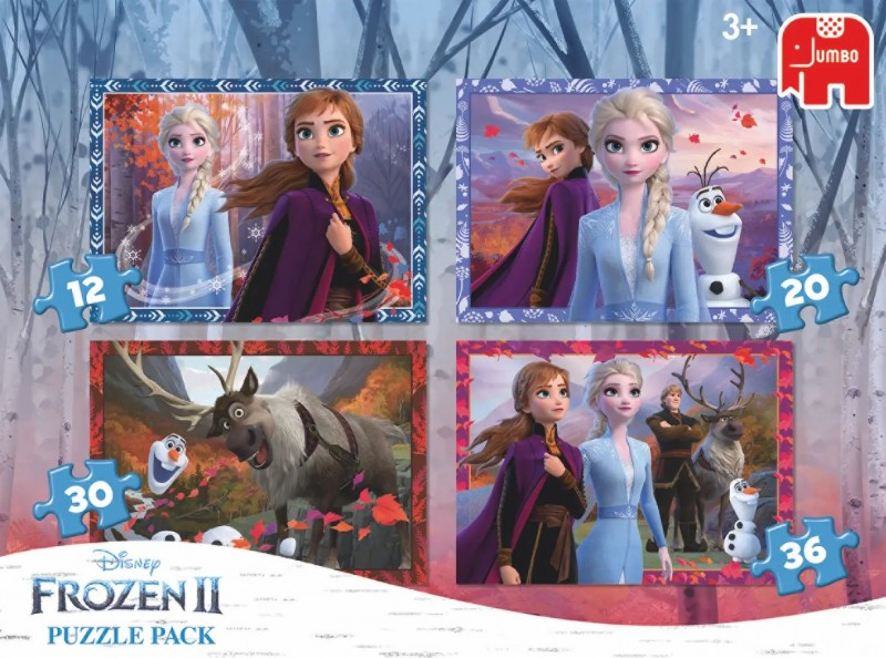Jumbo Puzzel 4 in 1 Disney Frozen 2 (12, 20, 30, 36)