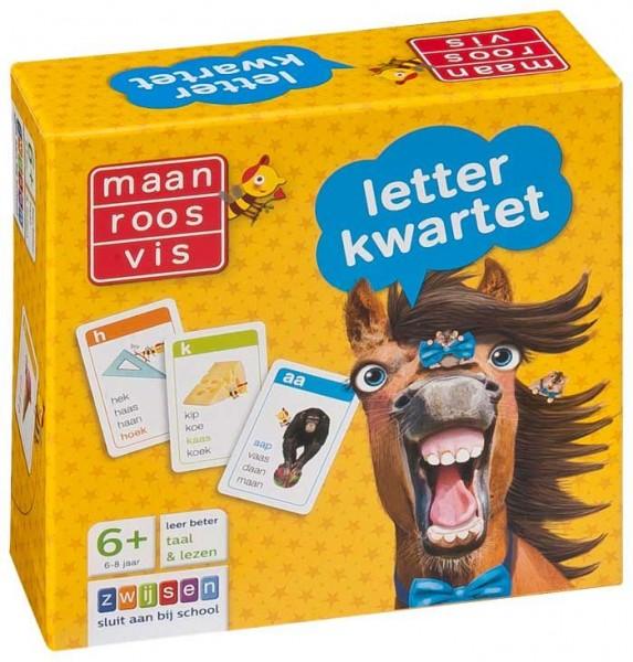 Spel Maan Roos Vis LetterKwartet