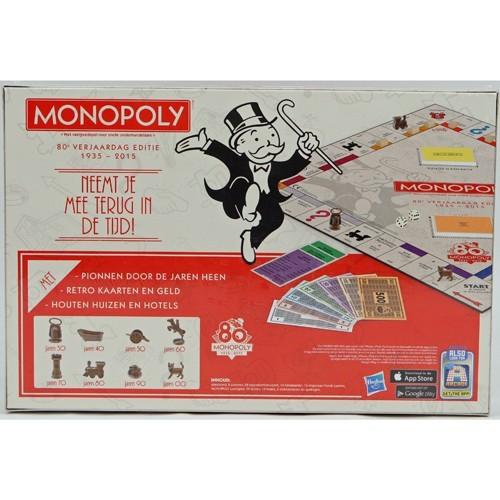 Spel Monopoly 80e Verjaardag