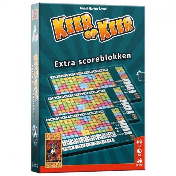 Spel Keer op Keer Scoreblok 3 Stuks Level 1
