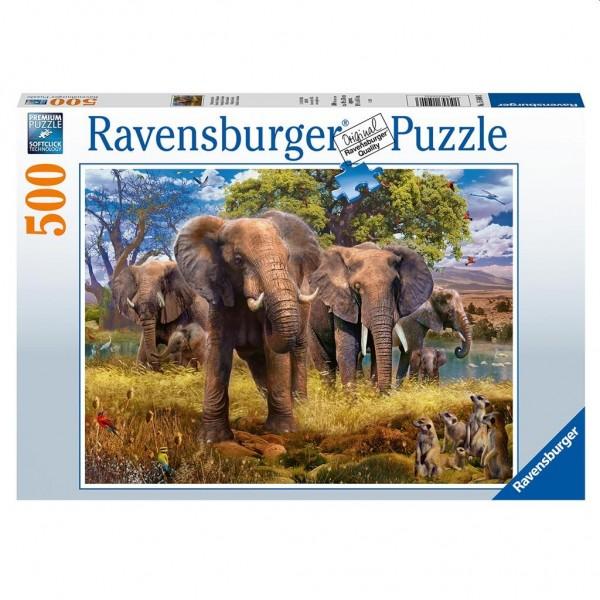 Ravensburger Puzzel Olifantenfamilie (500)