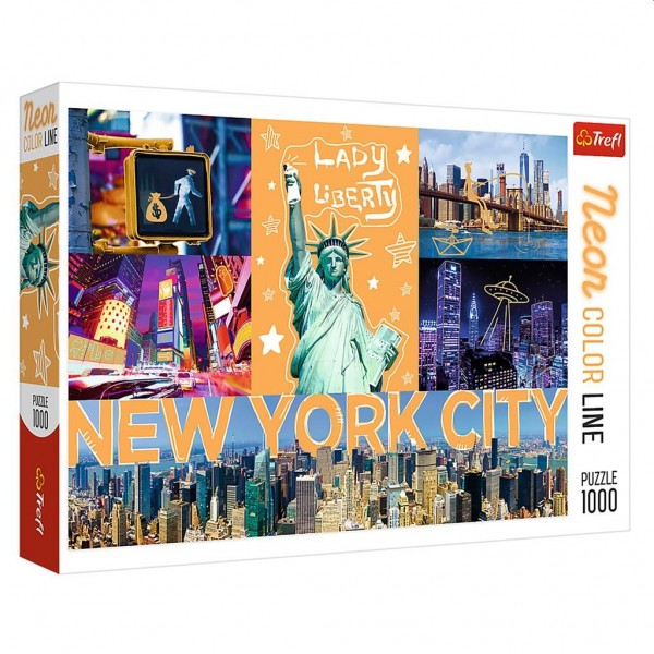 Puzzel Trefl Neon New York (1000)
