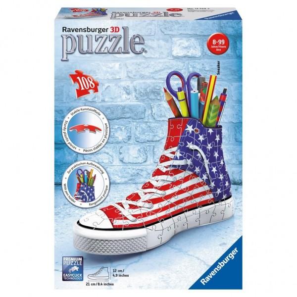 3D puzzel - Sneaker American Style Pennenbak (108 stukjes)