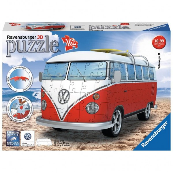 3D Volkswagen bus puzzel - 162 stukjes
