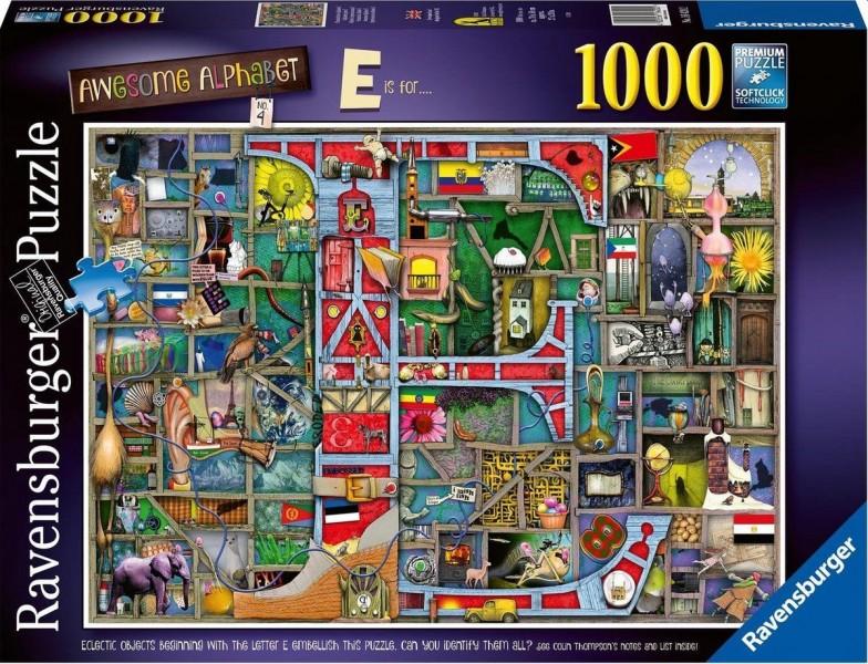 Ravensburger Puzzel Colin Thompson Awesome Alphabet E+F (1000)