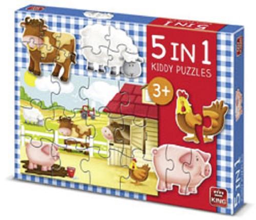 Puzzel 5 in 1 Boerderij