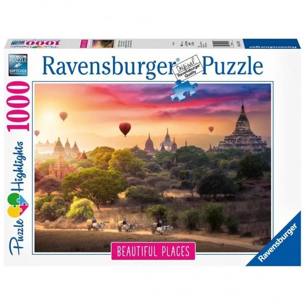Ravensburger Puzzel Heteluchtballon Boven Myanmar (1000)