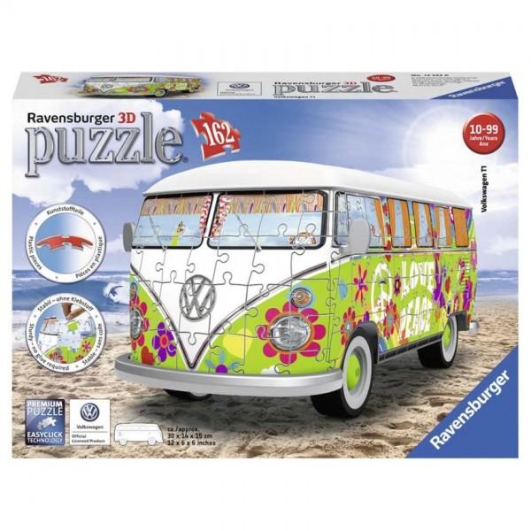 Ravensburger Puzzel 3D Volkswagen T1 Hippie Style (162)