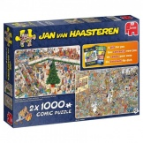 Jumbo Puzzel Jan van Haasteren Holiday Shopping 2in1 (2x1000)