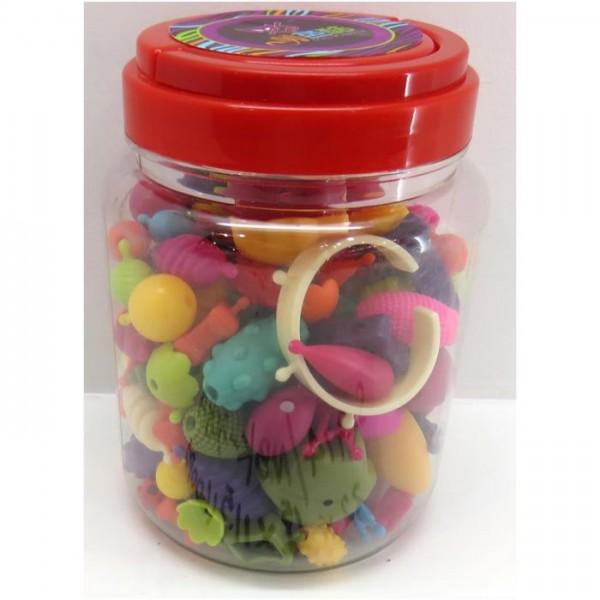 Kralen Pop Beads 180 stuks in emmer