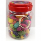 Kralen Pop Beads 180 stuks in emmer