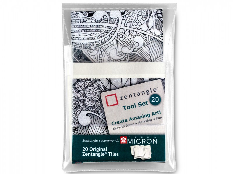 Zentangle Tool set 20 delig Wit