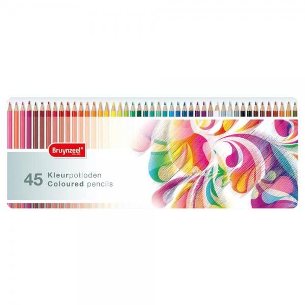 Kleurpotloden 45 Stuks In Blik