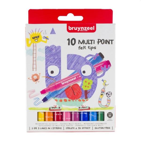 Bruynzeel Kids Zigzag Viltstiften 10 Stuks
