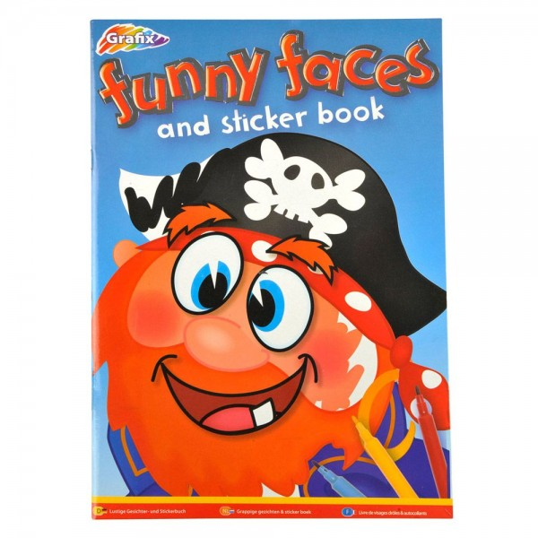 Stickerboek Funny Faces