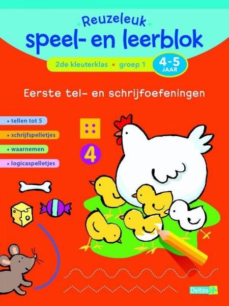 Reuzeleuk speel- en leerblok Eerste tel- en schrijfoefeningen 4-5 jaar
