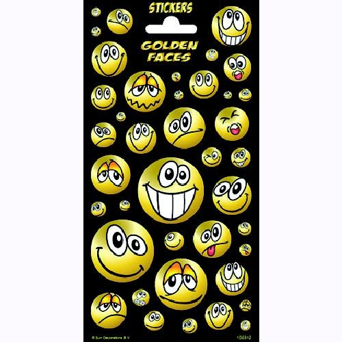 Stickers gold faces twink