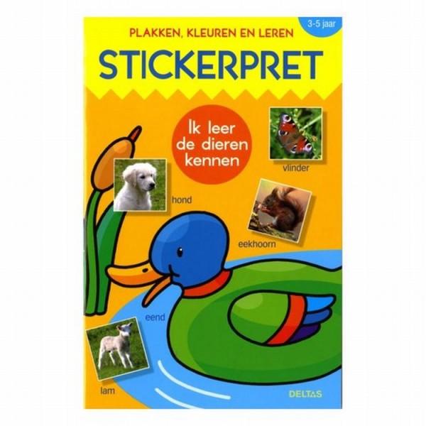 Boek Stickerpret Ik Leer De Dieren Kennen