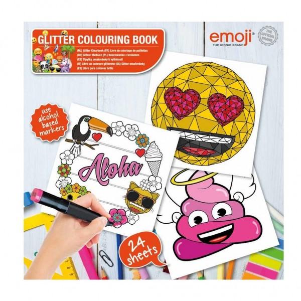 Emoji Glitter Kleurboek