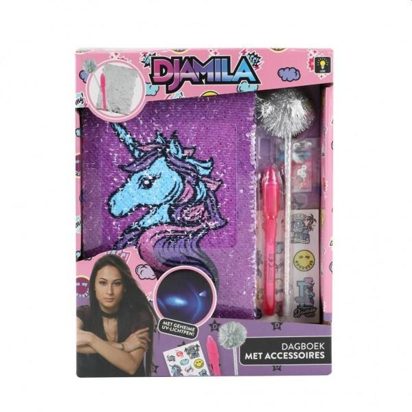Meisje Djamila Dagboek met Accessoires en Geheimschrijfpen