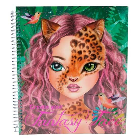 Topmodel create your fantasy face colouring book - Top model coloriage livre ...