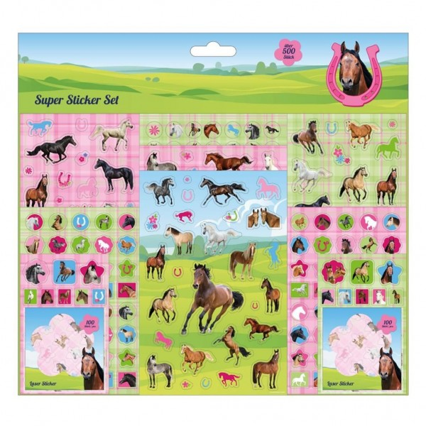 Stickerset Paarden 500-Delig