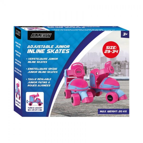 Alert Inline Skates Junior Meisjes maat 29-34 Roze