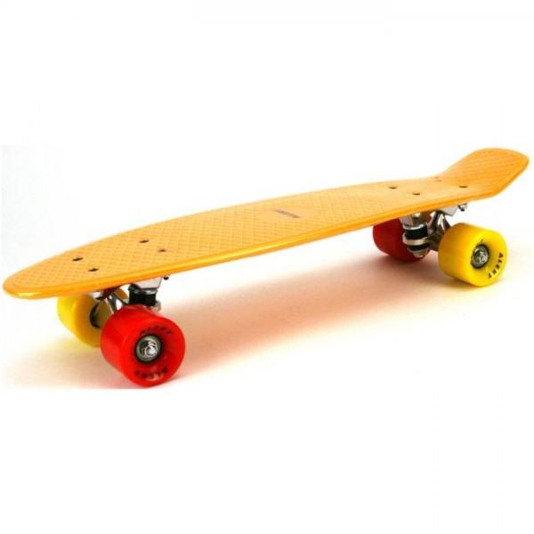 Alert Skateboard 55cm, Abec 7 oranje