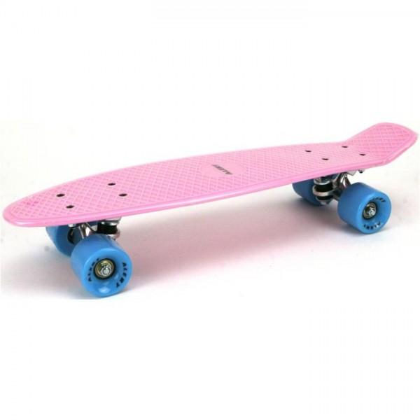 Alert Skateboard 55cm, abec 7 pink