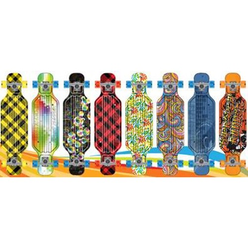 Skateboard Long Print 81cm, Abec 7