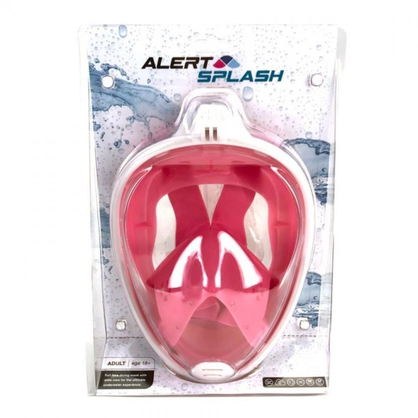 Alert Duikbril masker L/XL roze
