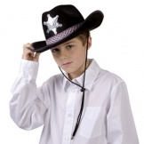 Cowboyhoed Junior Zwart