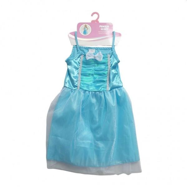 Prinsessenjurk Blauw 6-8 Jaar