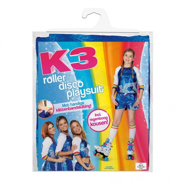 K3 verkleedpak rolschaatsen (3-5 jaar)