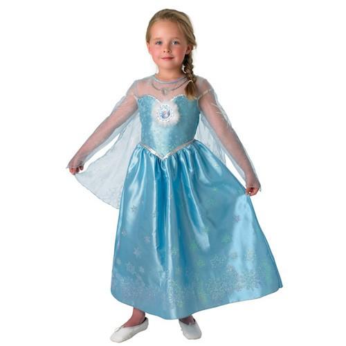 Kleding Elsa Snow Queen Classic Maat l