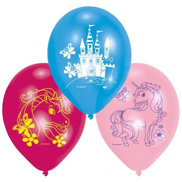 Ballonnen Unicorn 6 Stuks