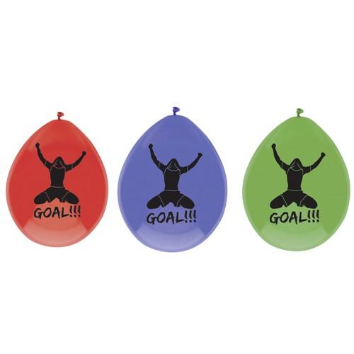 Goal balonnen 6 stuks