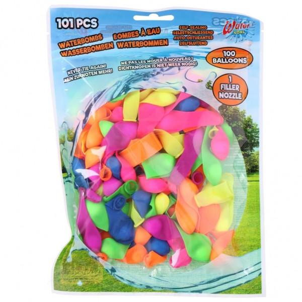 Waterballon 100 Stuks Zelfafsluitbaar