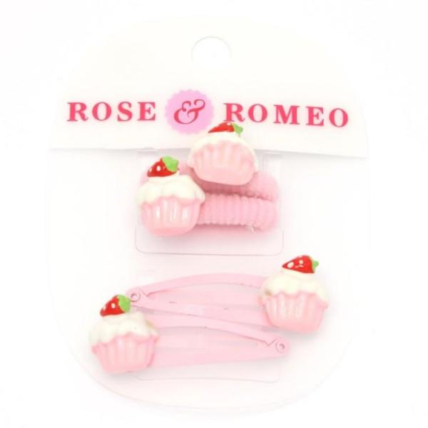 112067 Rose & Romeo Haarknip En Haarelastiek