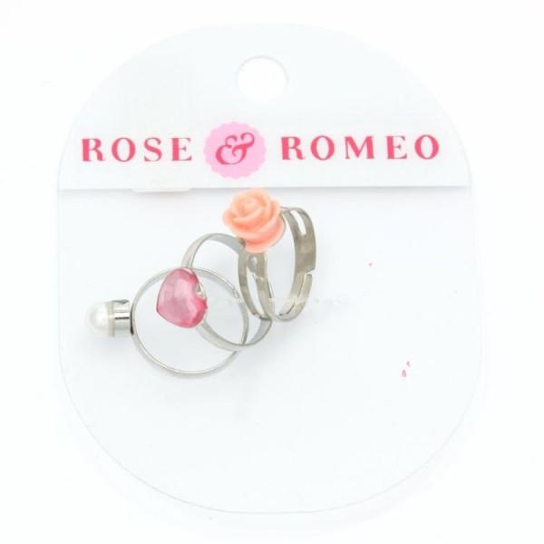 112416 Rose & Romeo Ringen 3 Stuks